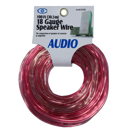 100FT(30.5M) 18 Gauge Speaker Wire