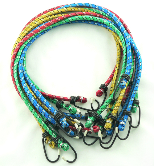 "10PC 24"" * 8mm Light Duty Bungee Cord"