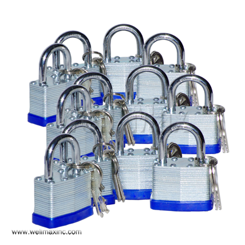 12PC 30mm Short Shank Laminated Padlock