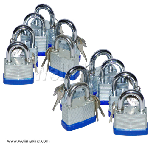 12PC 50mm Short Shank Laminated Padlock