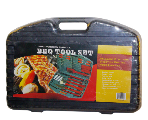 20PC Wooden Handle BBQ Tools Set