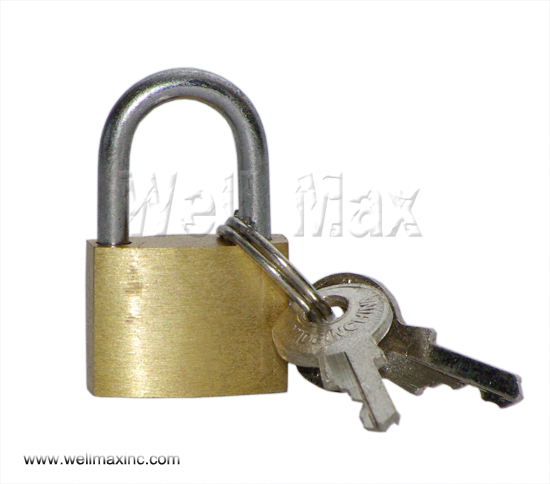 20mm Single Pack Brass Plated Padlock