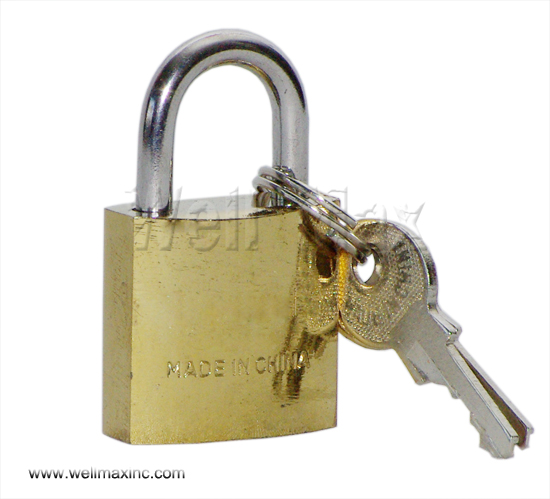 25mm Single Pack Brass Plated Padlock
