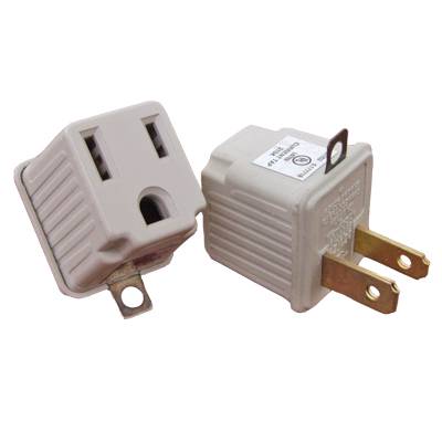 2PC 3 TO 2 Wall Type Grounding Adapter Set