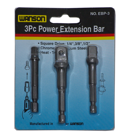 3PC Power Extension Bar Set