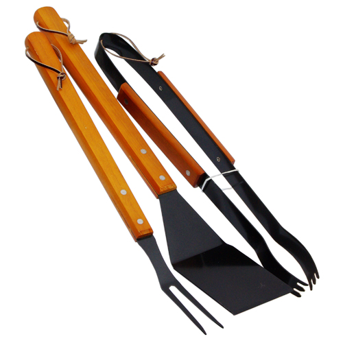 3PC Wooden Handle BBQ Tools