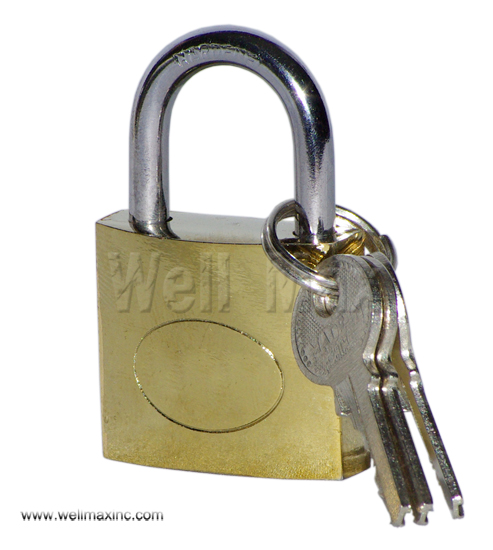 30mm Single Pack Brass Plated Padlock