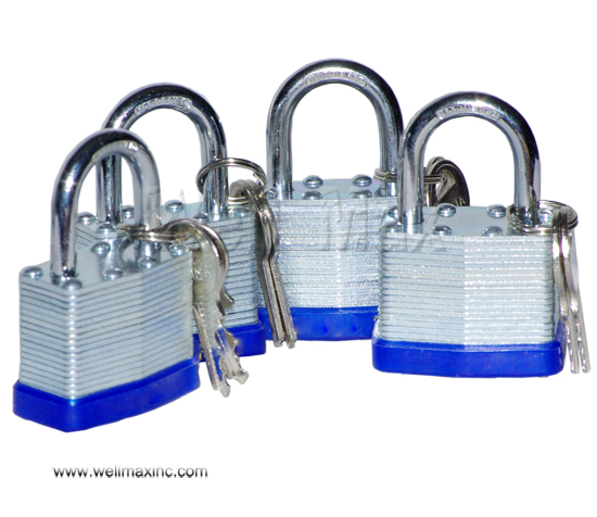 "4PC 1-1/2"" Short Shank Laminated Padlock Set"