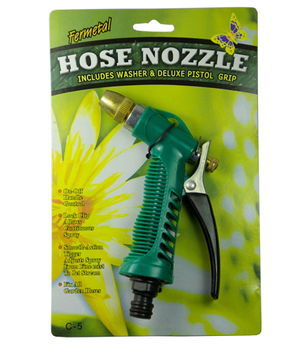"5-1/2"" Hose Nozzle Zinc-Alloy Head China Made"