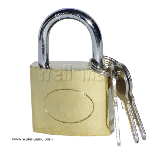 50mm Single Pack Brass Plated Padlock