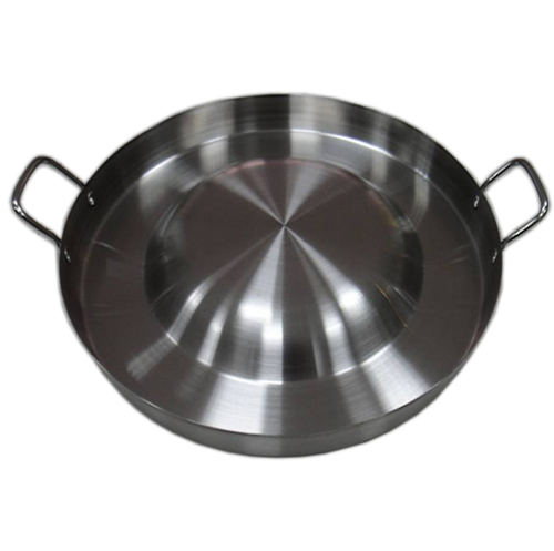 "21-1/4"" Stainless steel Comal- Deep Rim Fry Pan"