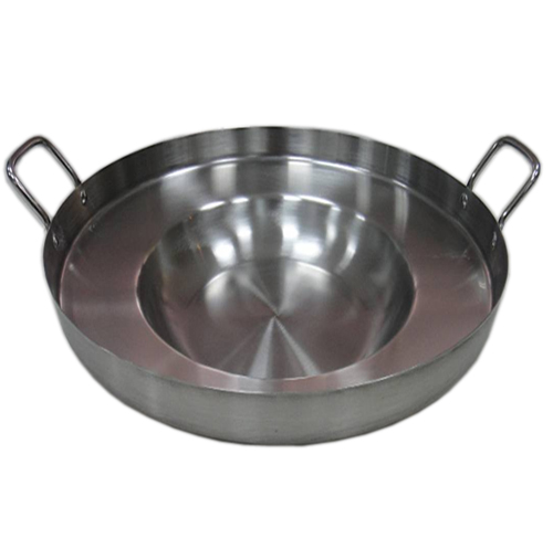"22-1/2"" Stainless steel Comal- Deep Rim Fry Pan"