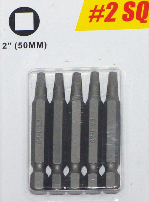 5PC Power Bit Set - #2 SQ