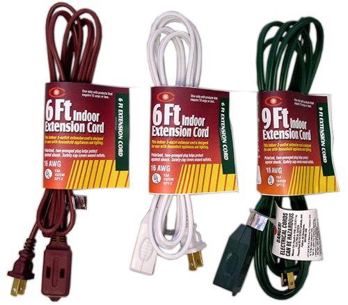 6FT-25FT UL Listed Indoor Extension Cords