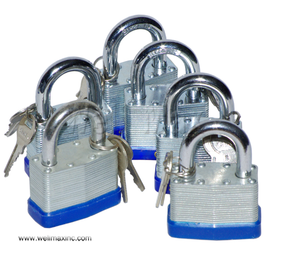 "6PC 2"" Short Shank Laminated Padlock Set"