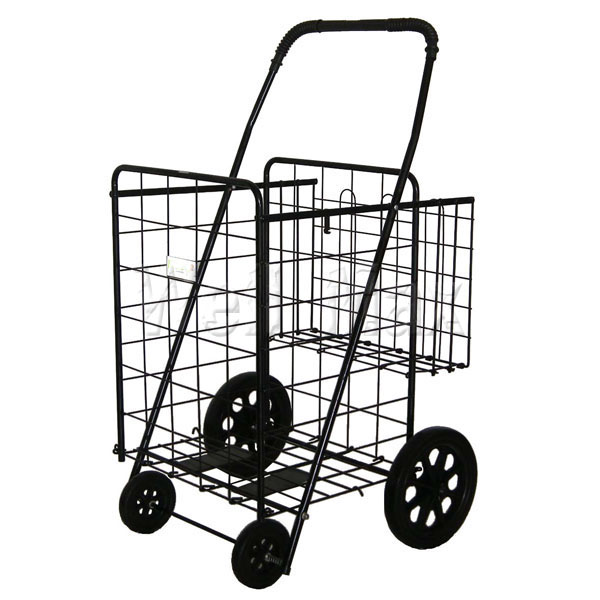 WM99015 Folding Shopping Cart W/Dual Basket