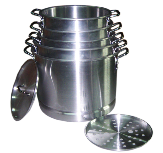 5PC Aluminum Steamer Pot Set