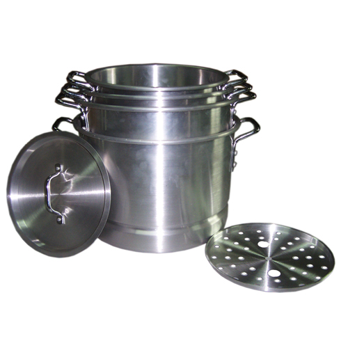 4PC Aluminum Steamer Pot Set