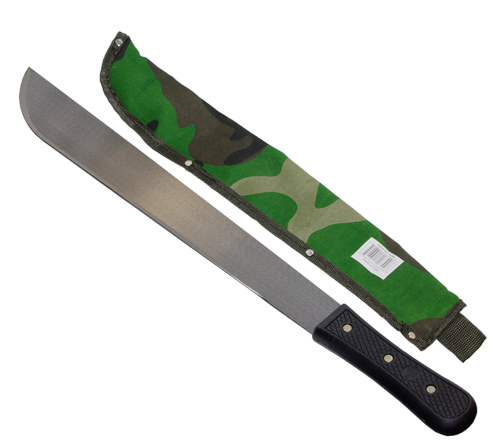 "18"" Machete with Camouflage Sheath"
