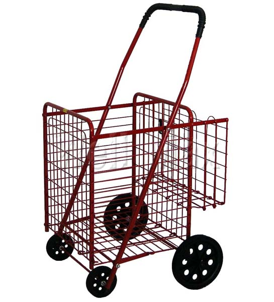 WM99014 Folding Shopping Cart W/Dual Basket