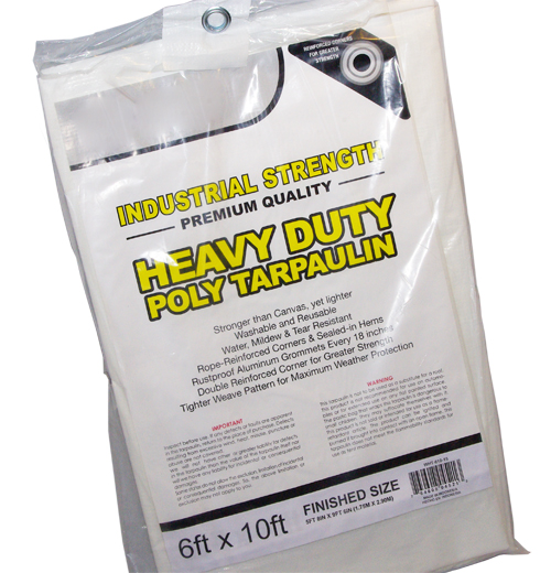 18FT X 20FT  White Heavy Duty Poly Tarpaulin