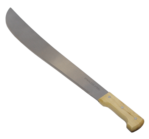 "18"" Stainless Steel Machete With Wood Handle"
