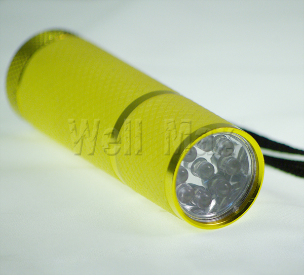 9 LED Super Bright Flash Light Glow In The Dark