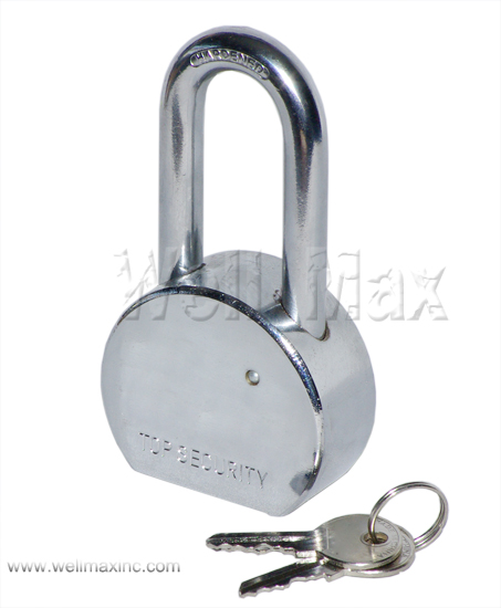 65mm Solid Steel Padlock Long Shank