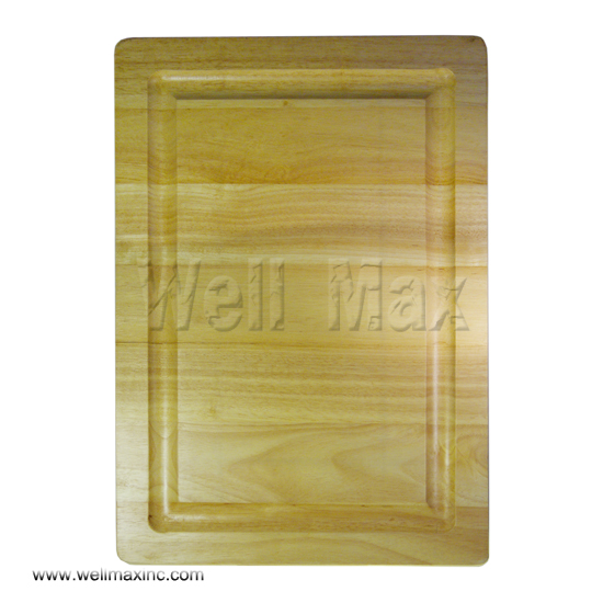 "20"" Rubber Wood Roasting Cutting Board"