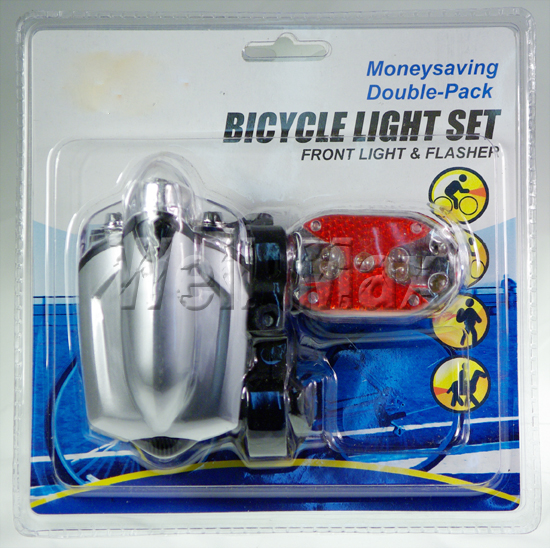 2PC Combination Bicycle Bike Lights Set