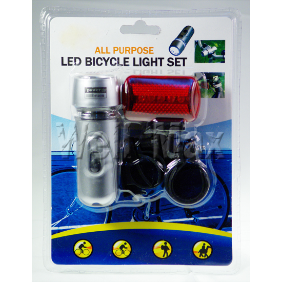2PC Combination Bicycle Bike Flash Lights Set
